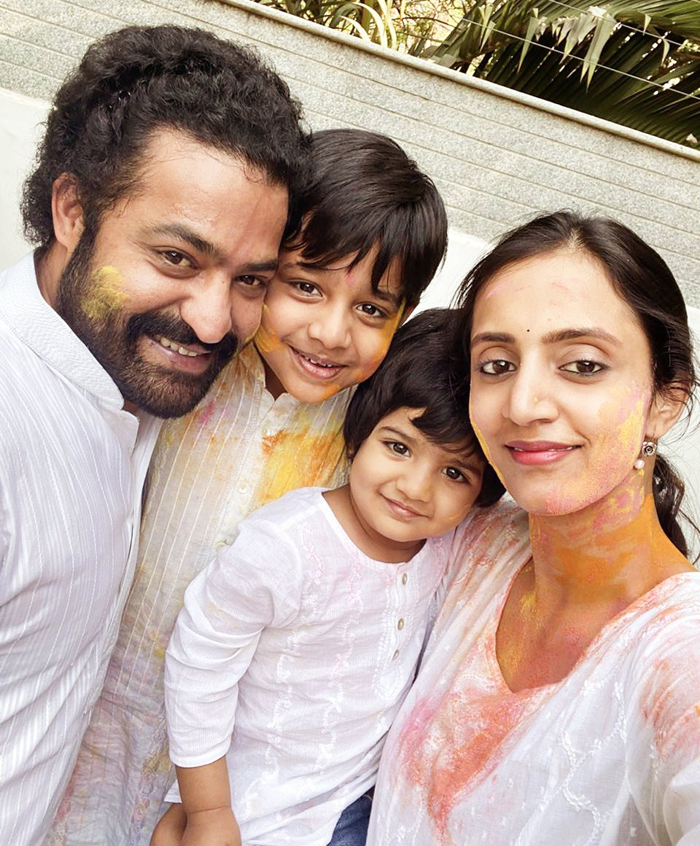 Tollywood celebrities are in holi celebrations