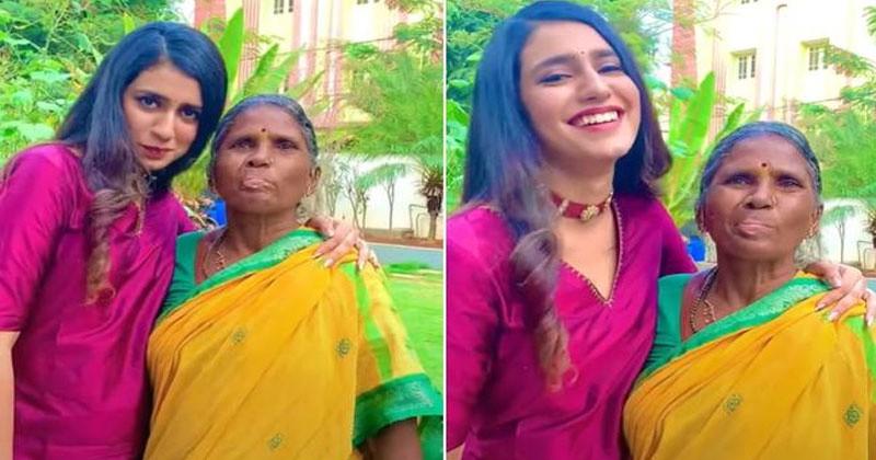 priya prakash varrier and gangavva funny video
