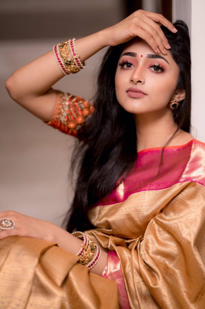 Preity Mukhundhan Beautiful Saree Pics