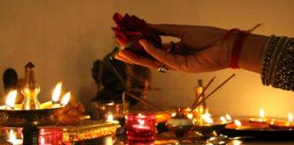 Pooja process of worshiping God
