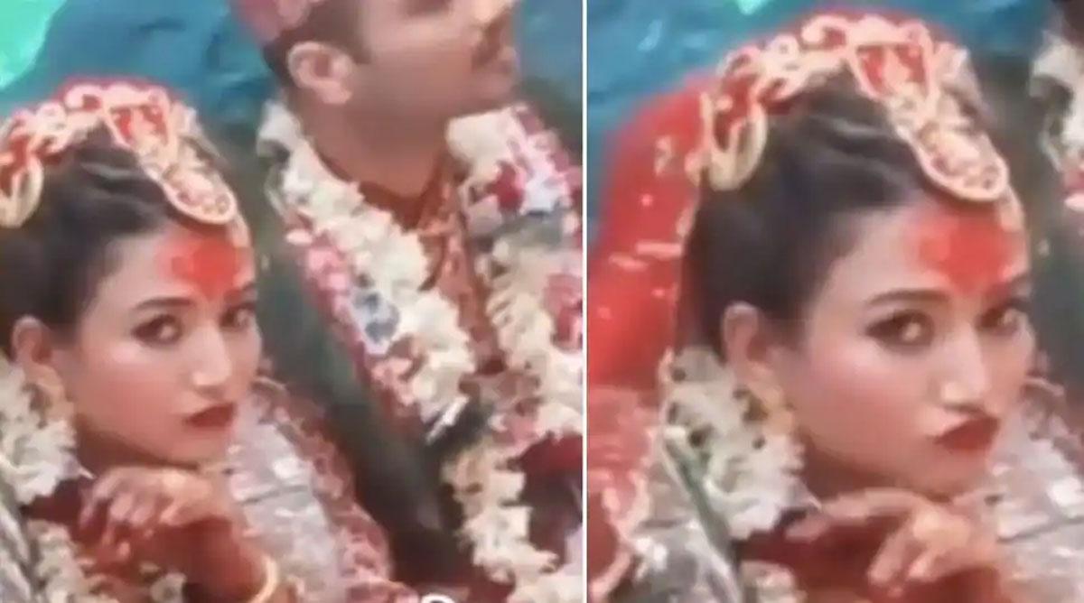 bride pose in wedding video goes viral