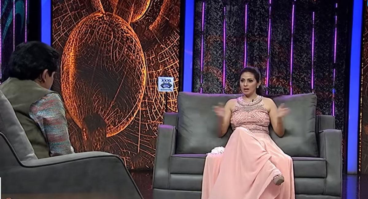 senior actress sadha in alitho saradaga show