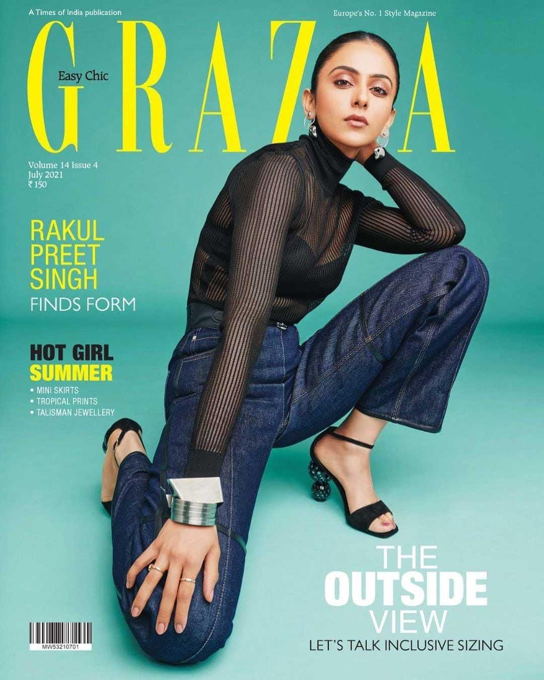 rakul preet singh Latest grazia magazine pics