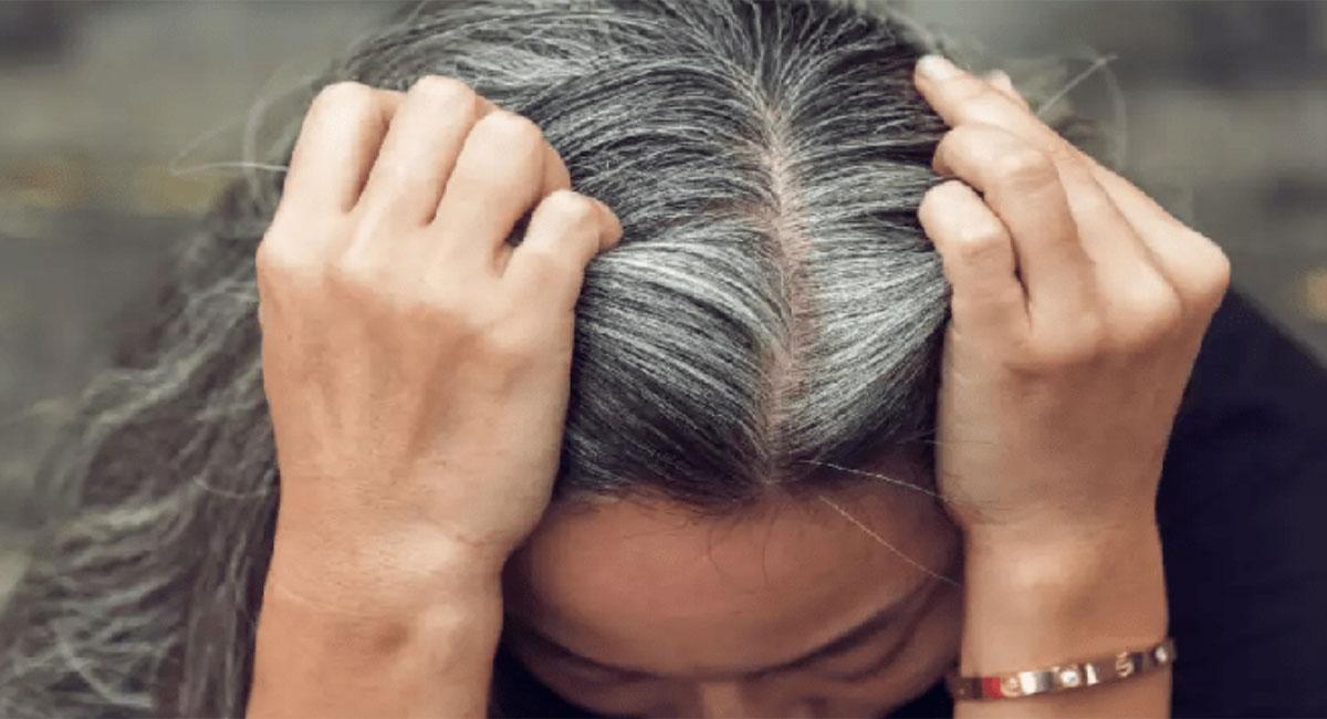 how to prevent white hair home remedies telugu