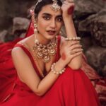 priya prakash varrier red colour dress latest pics goes viral